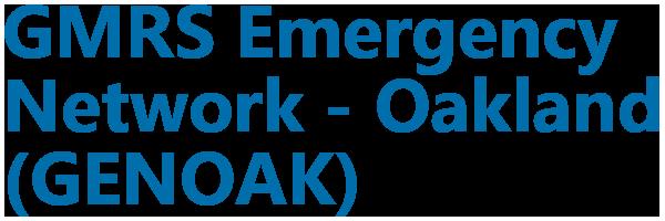 GMRS Emergency Network – Oakland (GENOAK)