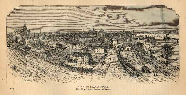 VIEW OF LEAVENWORTH from harpers special geography of kamsas