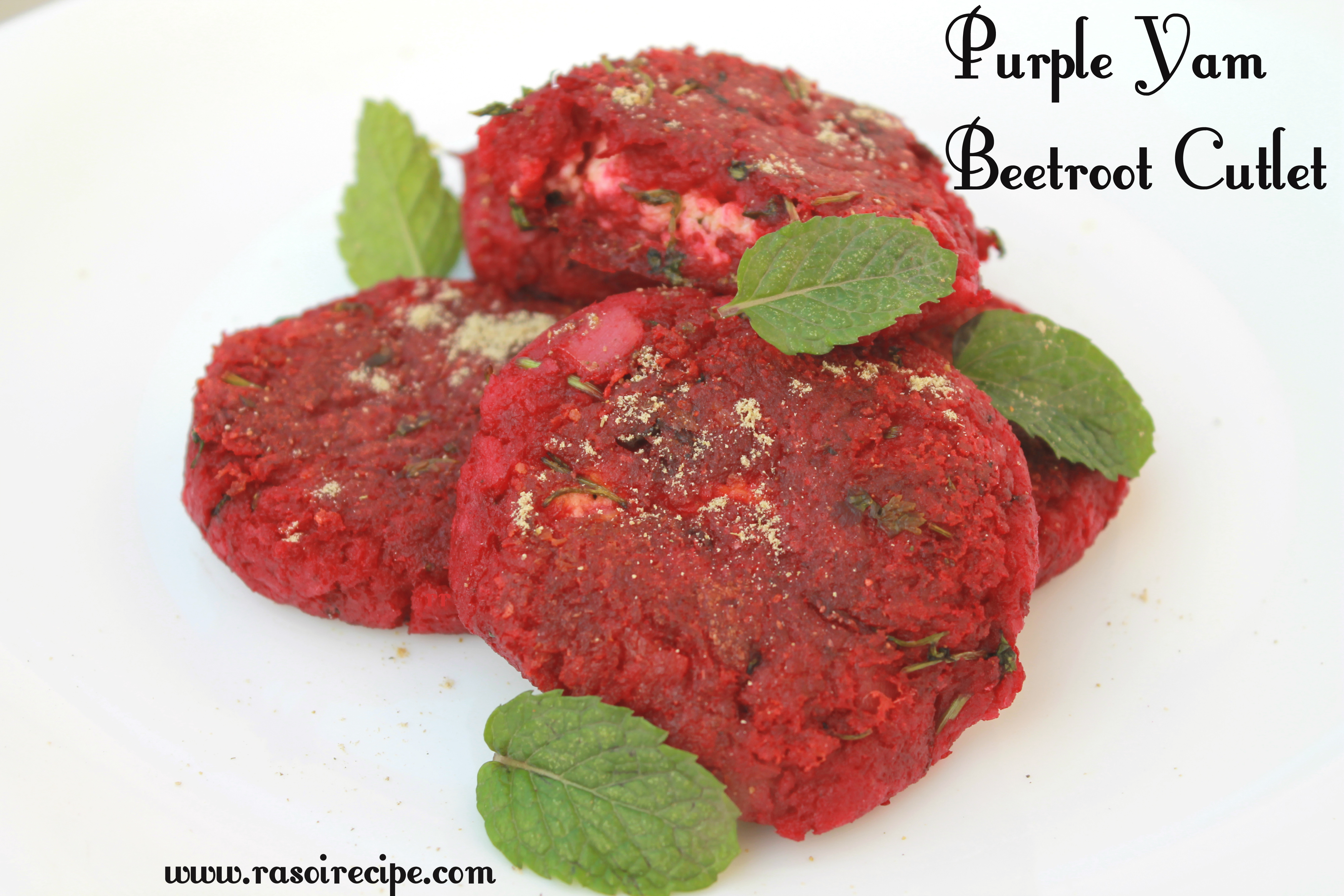 Purple Yam Beetroot Cutlet