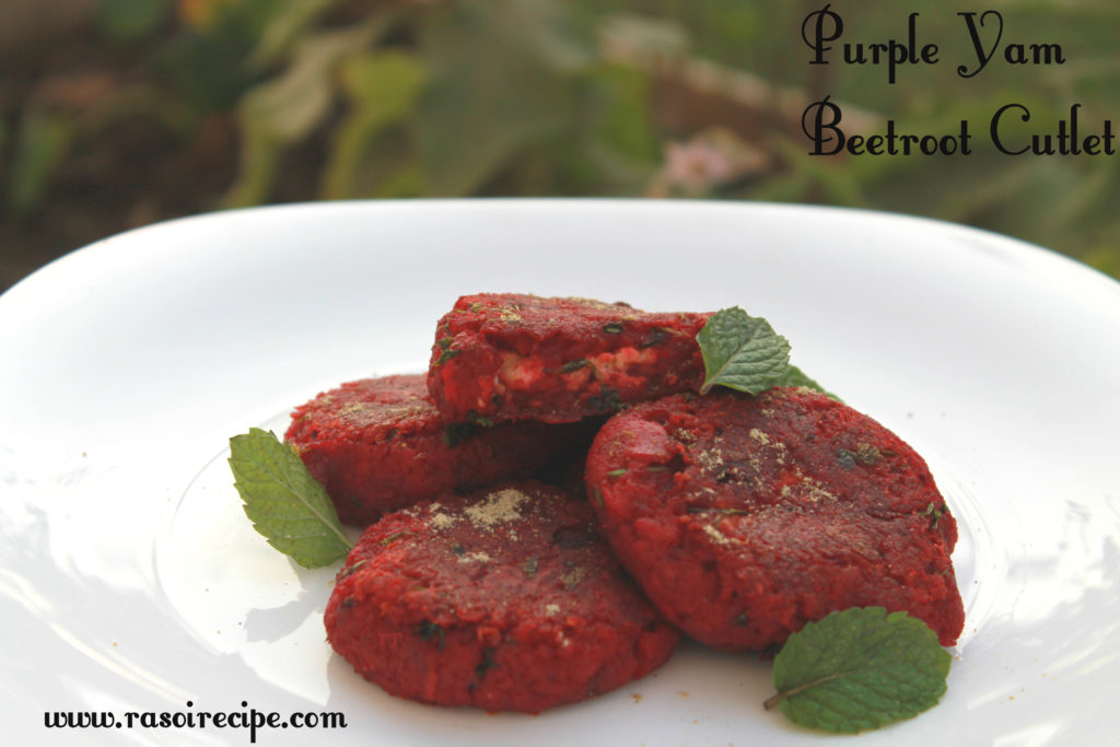 Purple Yam Beetroot Cutlets