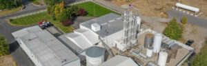 Birds-eye view of our private label distillery.