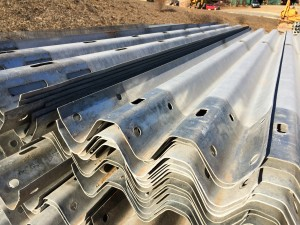 Stack of Thrie-beam Guardrail