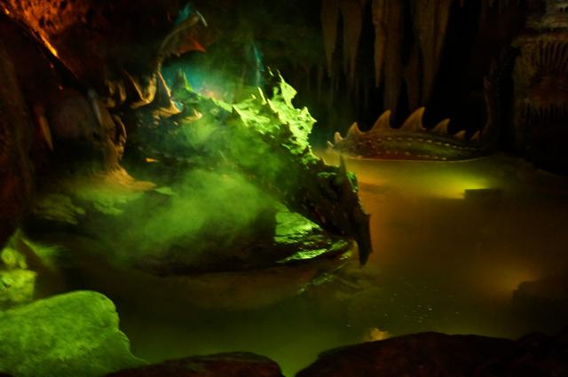 Disneyland Paris has a dragon under Sleeping Beauty's castle.
