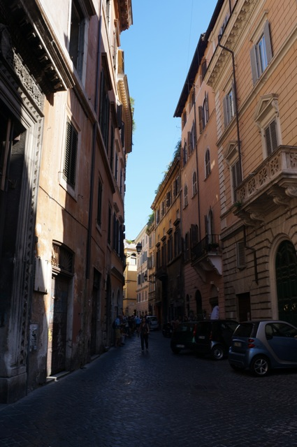 Walks around Rome.