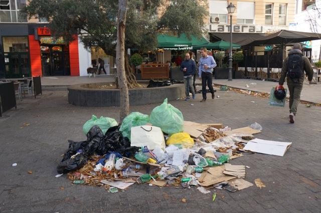 Sanitation Workers Strike in Madrid