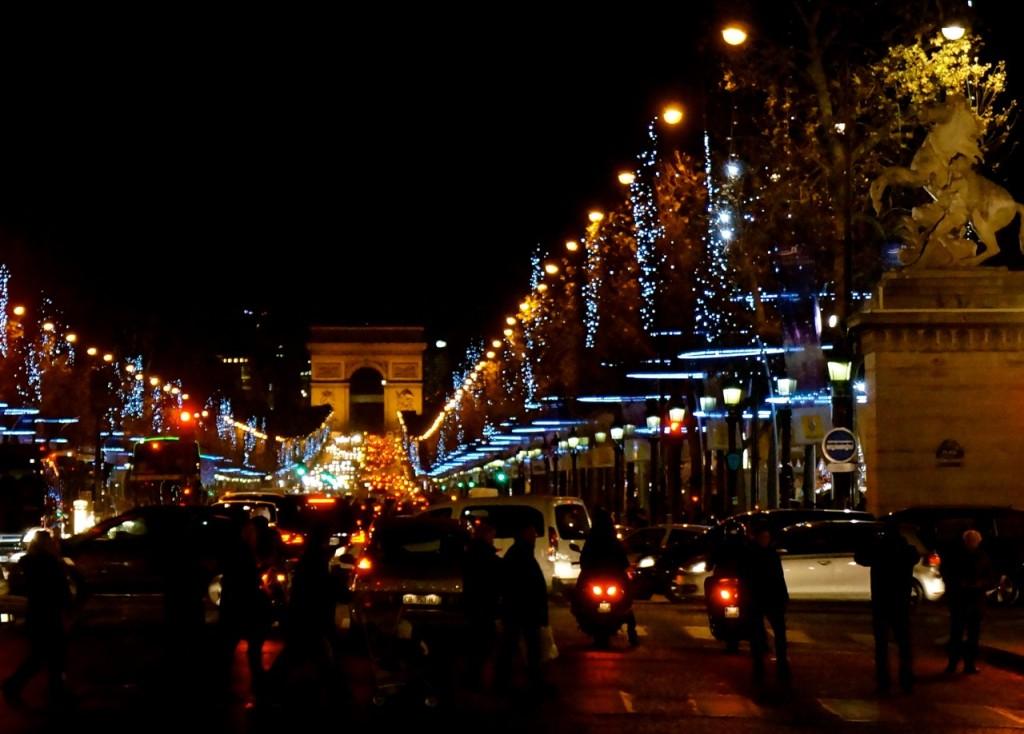 Christmas decorations in Paris.