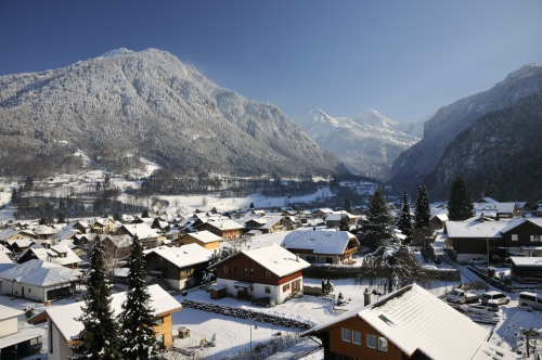 Interlaken, Switzerland is one of Europe's best winter destinations.