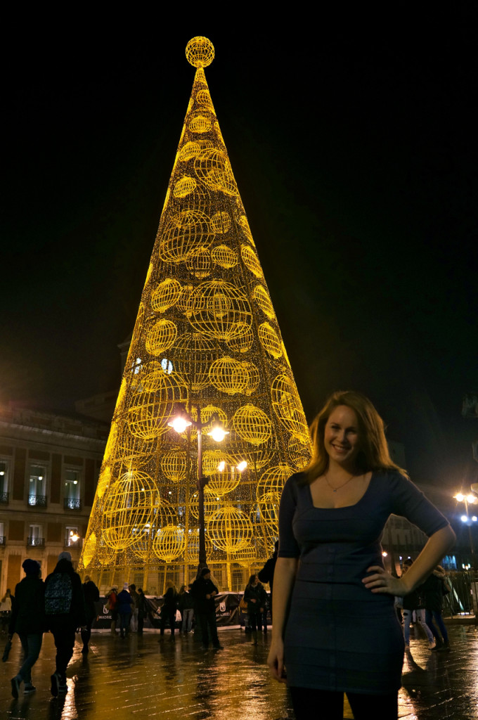 Travel Blogger Lauren Salisbury visits the Christmas Lights in Madrid