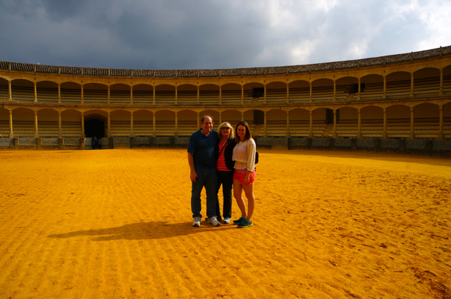One of the top 10 things to see on an Andalucía Road Trip is the plaza de toros in Ronda.
