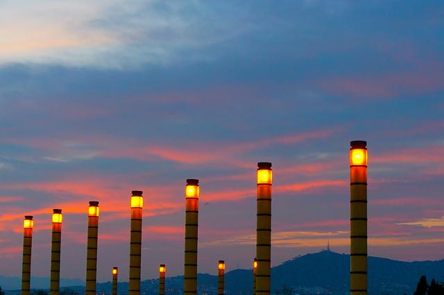 Barcelona sunset walk.