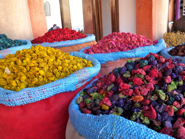 The colors of the spice market are one of the top 10 things to do in Marrakech.