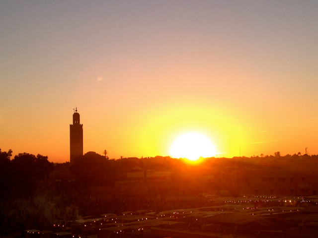 Sunset is one of the top 10 things to do in Marrakech.