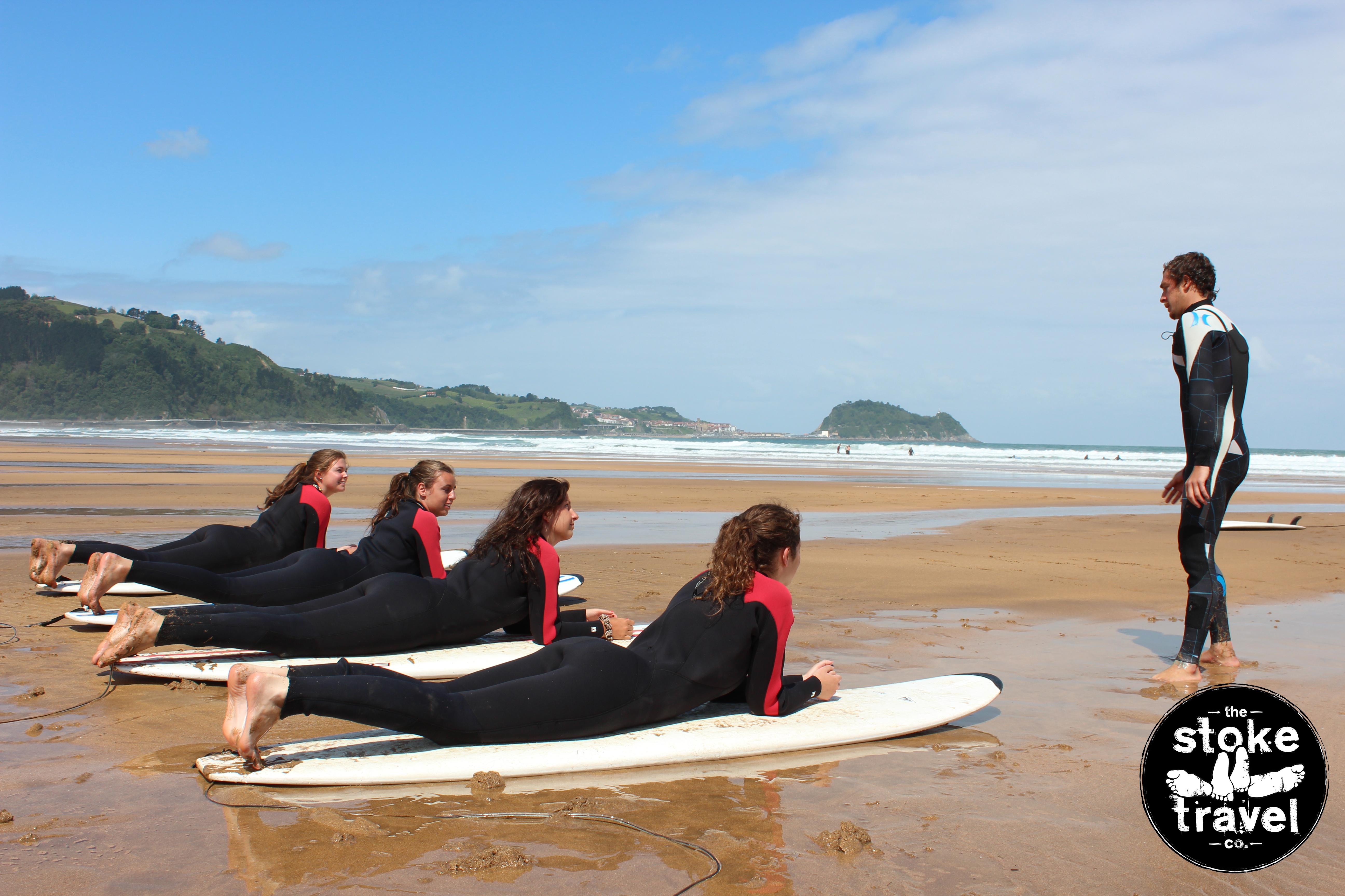 San Sebastian Surf camp with Stoke Travel.