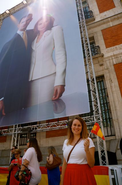 Lauren Salisbury of Madrid travel blog Something In Her Ramblings celebrates Coronation Day in Madrid, welcoming King Felipe VI to the throne.