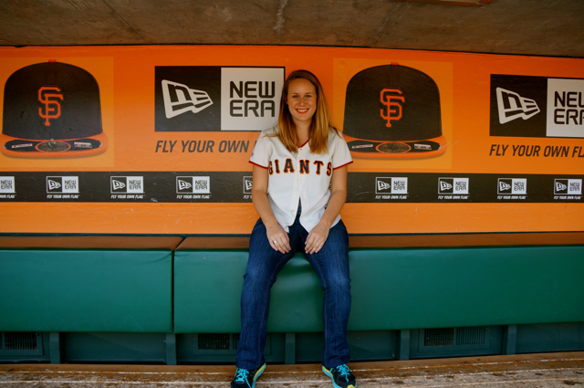 Travel blogger Lauren Salisbury takes a San Francisco Giants Ballpark Tour