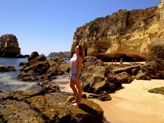 Lagos Portugal cliffs