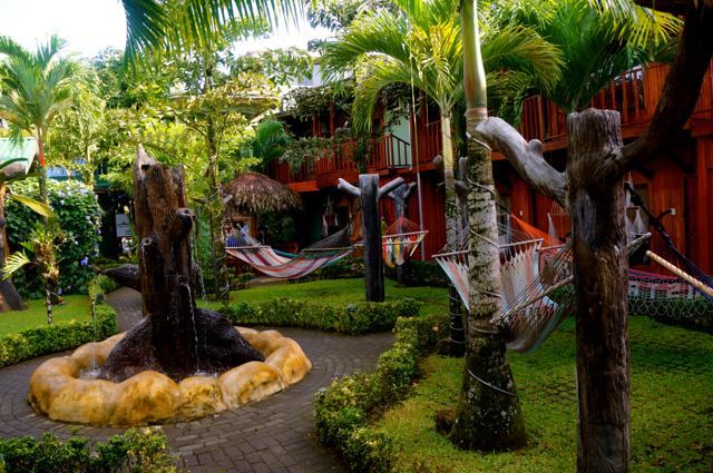 costa rica hostels provide budget accommodation near arenal volcano.