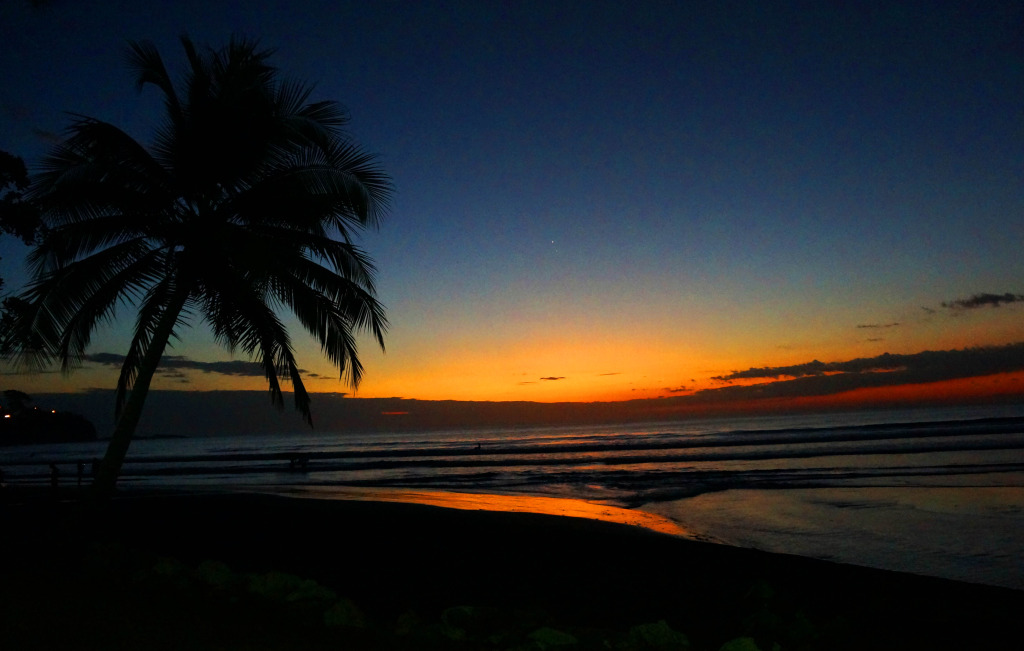 South Beach in Jaco, Costa Rica is a great place for sunset viewing.
