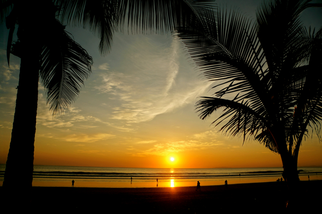 Sunset is one of the most beautiful times in Jaco, Costa Rica.