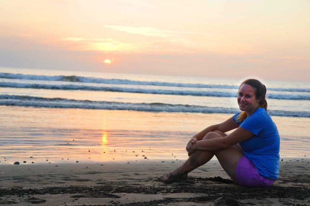 Lauren Salisbury enjoys a sunset view in Costa Rica.