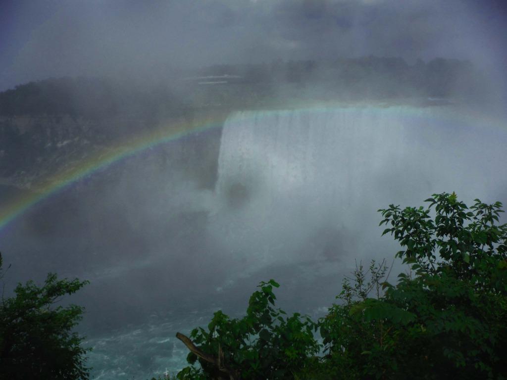solo trip to Niagara Falls rainbow at Niagara Falls