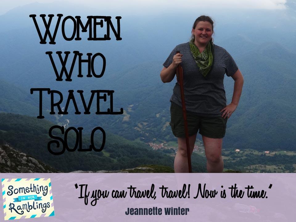 women who travel solo Jeannette Winter
