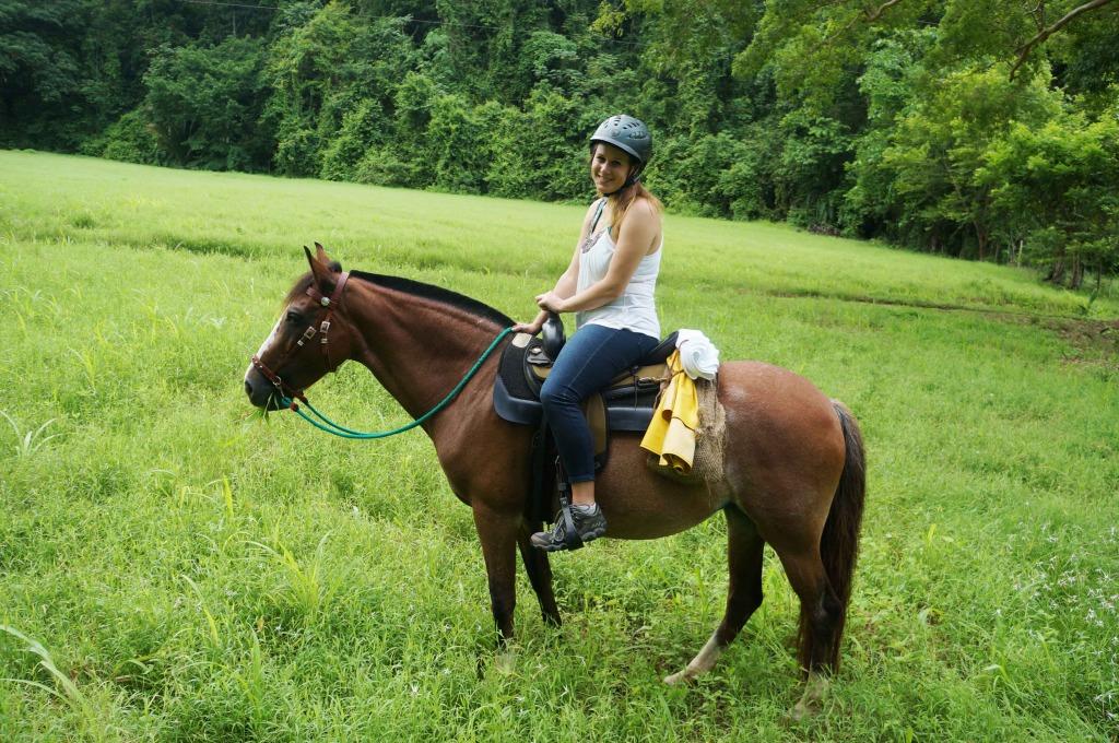 Discovery Horseback Tours Lauren rides Shera