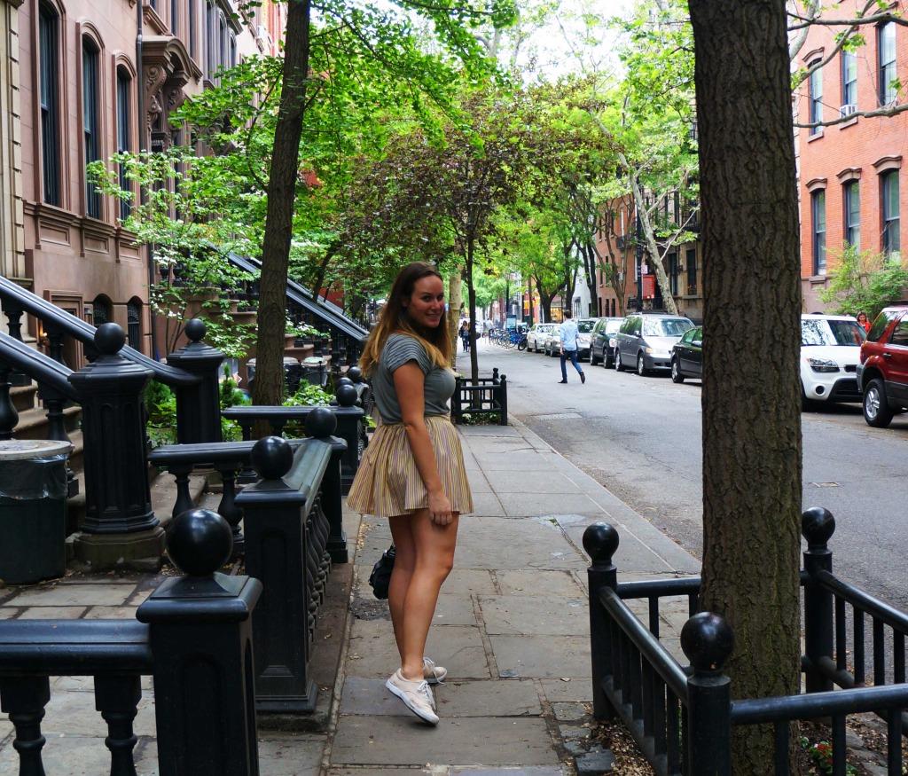 lauren salisbury in new york on sex and the city hotspots tour