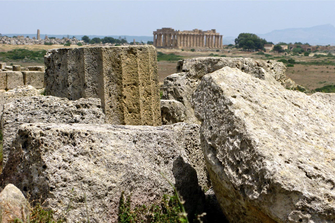 Selinunte ruins on a solo trip to sicily