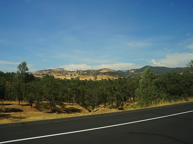california scenery on a california scenic drive