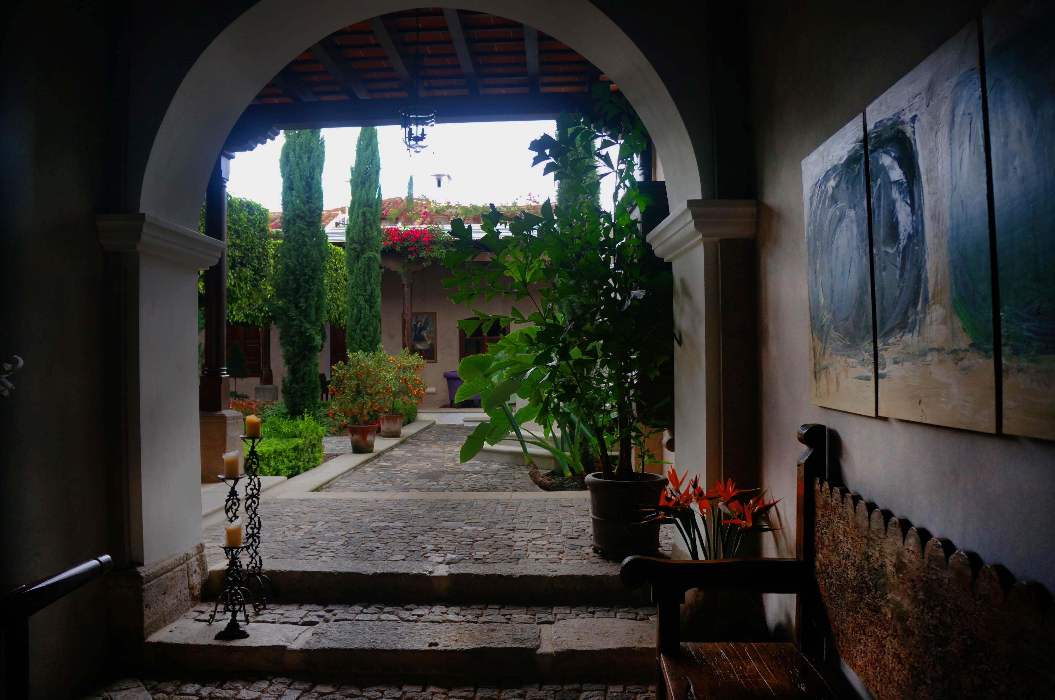 garden entrance where to stay in antigua guatemala hotel san rafael