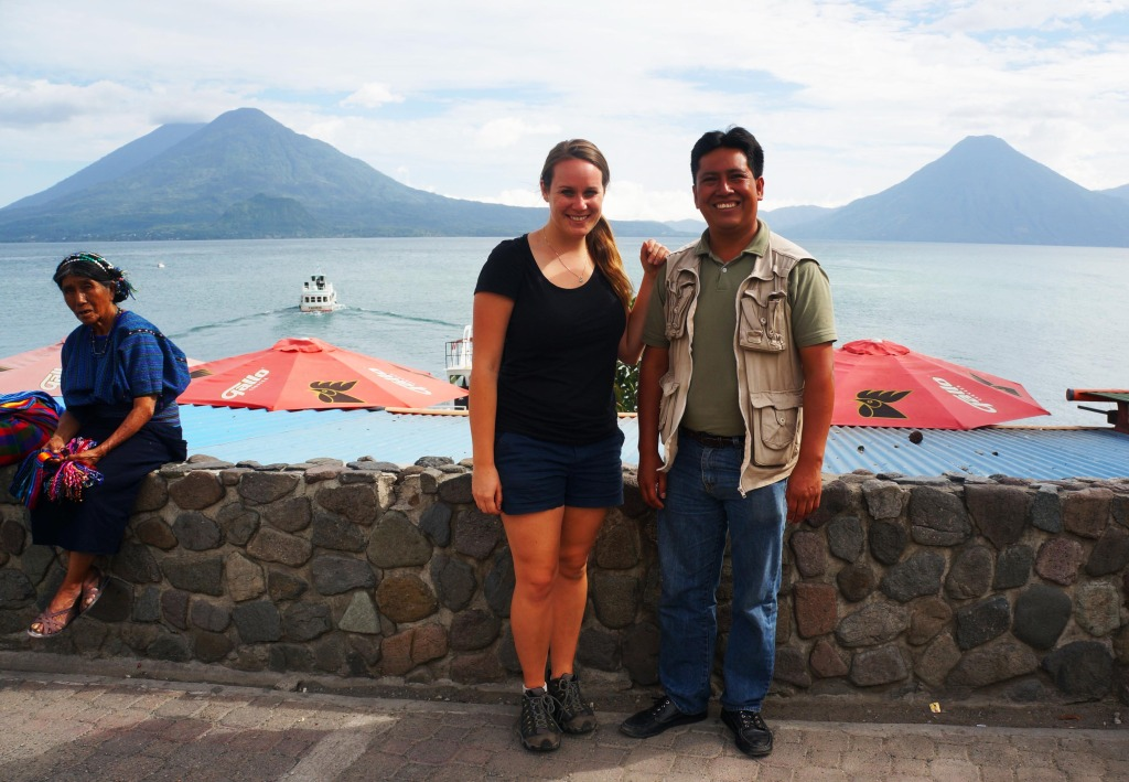 lauren and alejandro on a day trip to lake atitlan guatemala