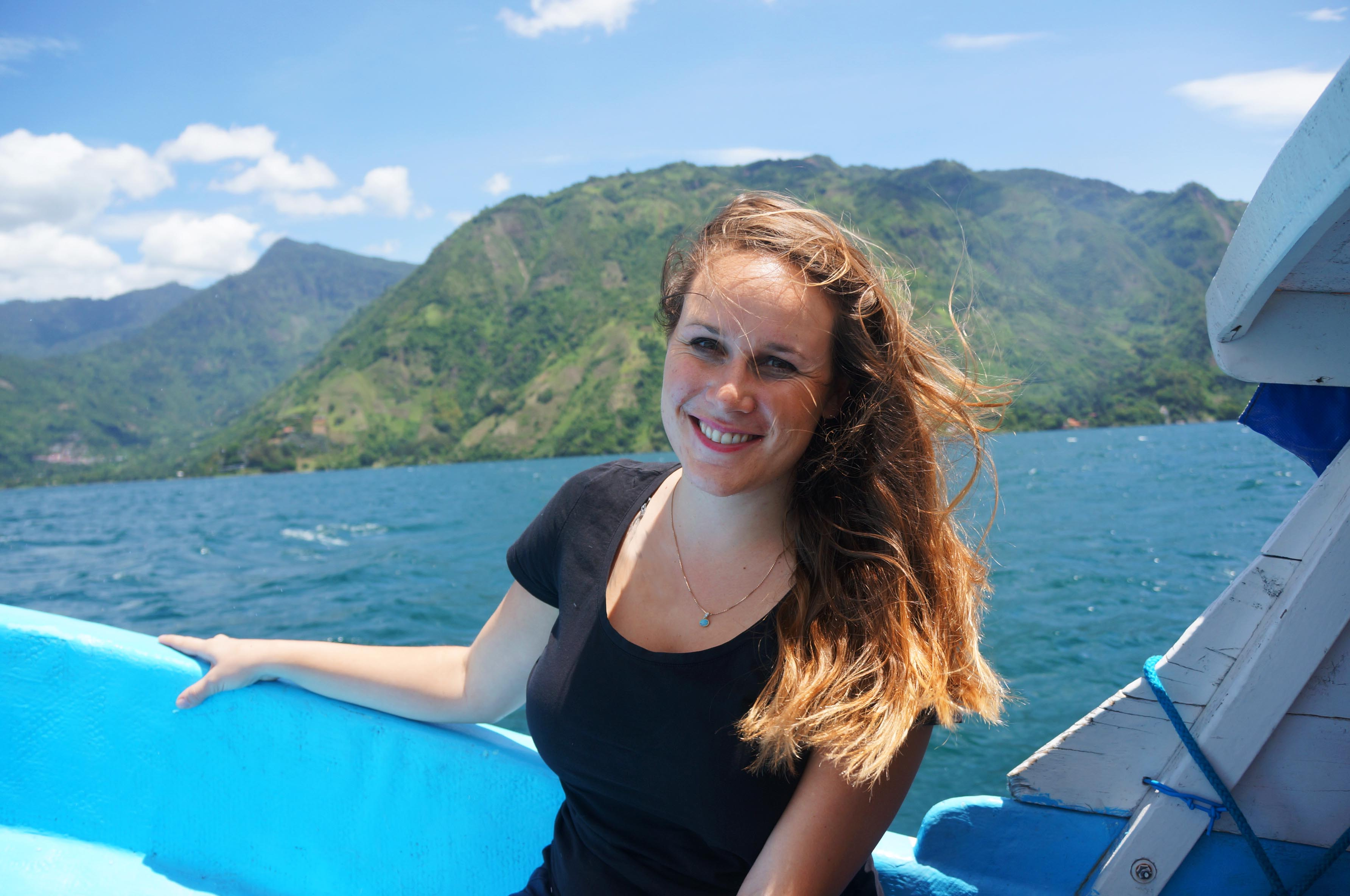 lauren salisbury takes a day trip to lake atitlan in guatemala