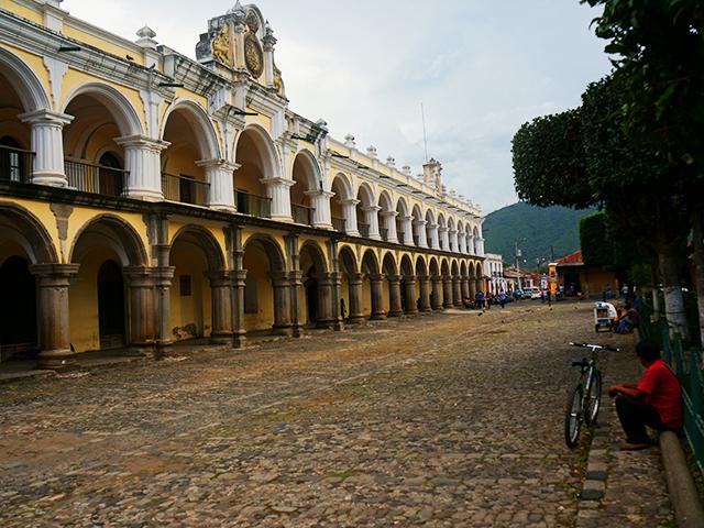 photos of antigua guatemala park palace