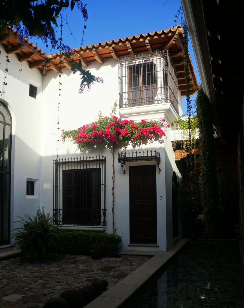 pink flowers where to stay in antigua guatemala hotel san rafael