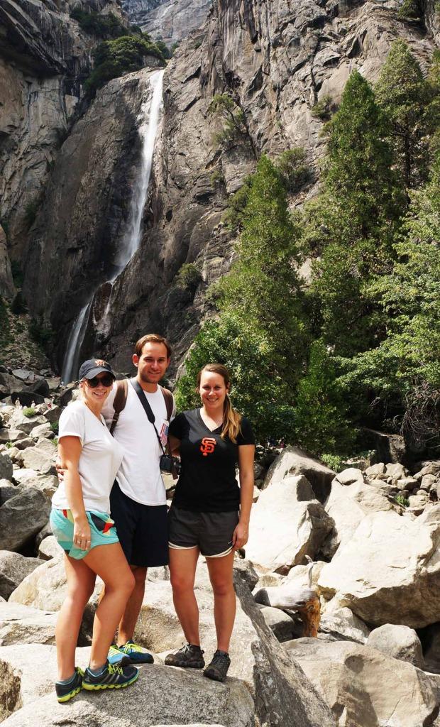 see yosemite waterfall on a california scenic drive