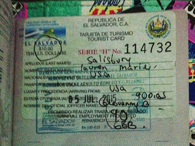 traveling alone in el salvador- el salvador visa