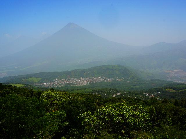 view from the mirador at pacaya volcano