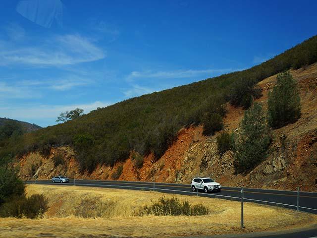 winding hills on a california scenic drive