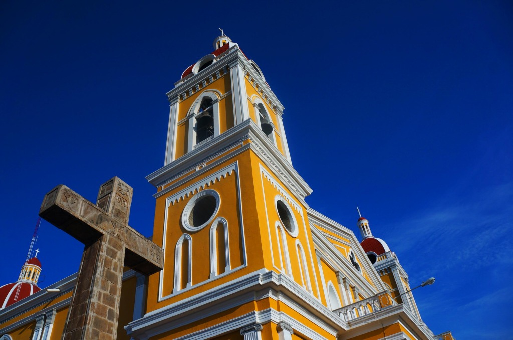 Granada Nicaragua in photos cathedral from the side