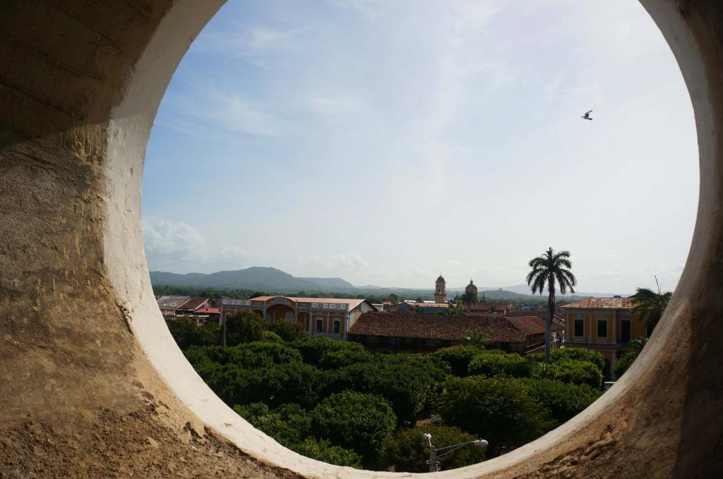 Granada Nicaragua in photos circle in the wall