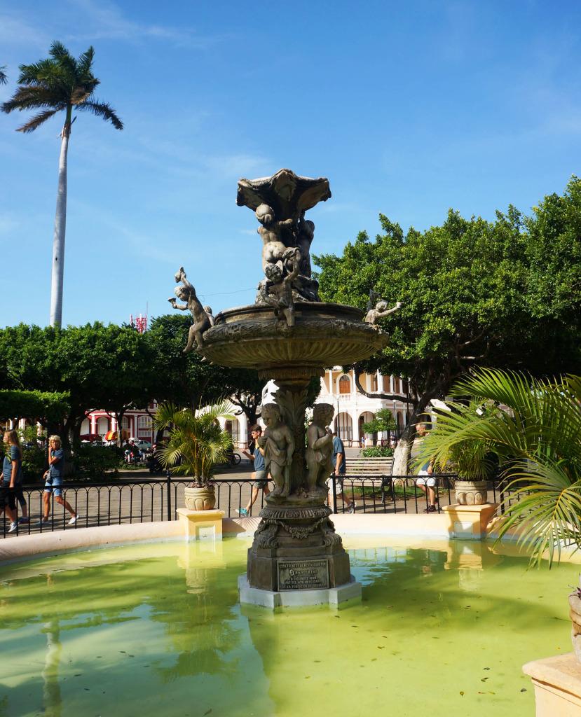 Granada Nicaragua in photos fountain
