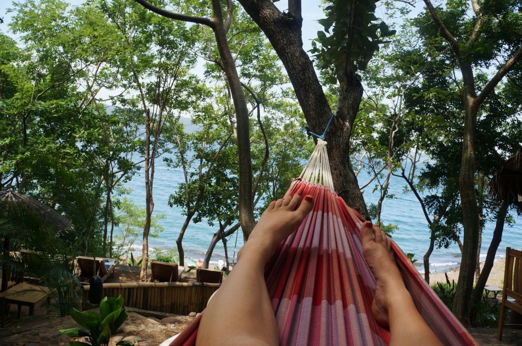 Laguna de Apoyo picture hammock feet