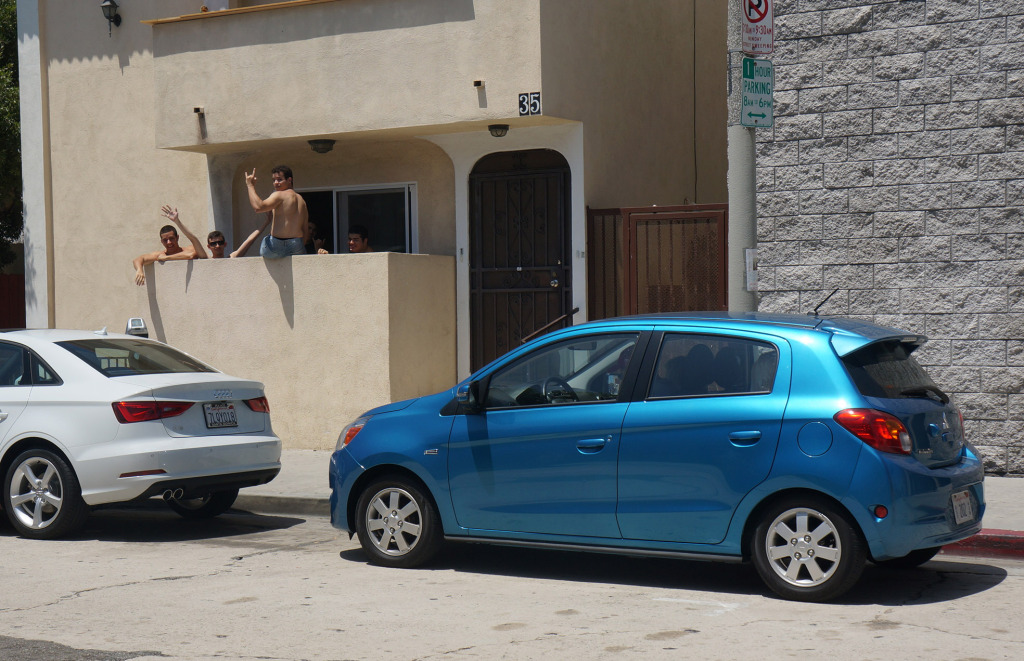 best car for city driving mitsubishi mirage in venice beach