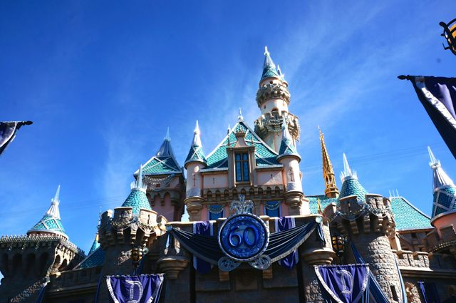 celebrating disneyland 60th anniversary in photos castle upclose