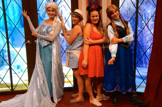 celebrating disneyland 60th anniversary in photos frozen sisters