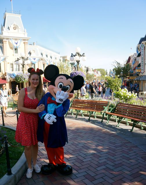 celebrating disneyland 60th anniversary in photos meeting mickey mouse