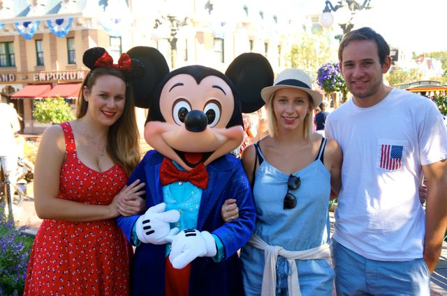 celebrating disneyland 60th anniversary in photos mickey mouse and siblings