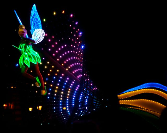 celebrating disneyland 60th anniversary in photos tink paint the night