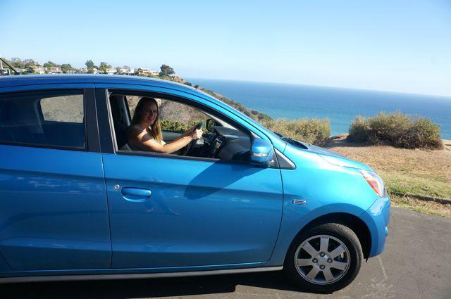 drive mitsubishi mirage to the top 5 southern california beaches
